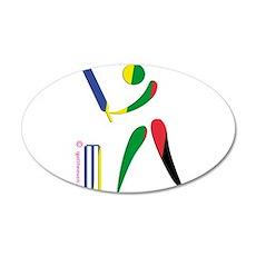 Cricket Olympic 38.5 x 24.5 Oval Wall Peel