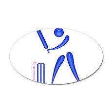 Cricket Blue 38.5 x 24.5 Oval Wall Peel