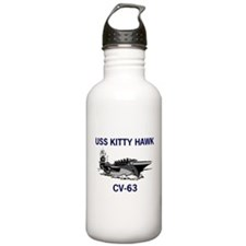 USS KITTY HAWK Water Bottle