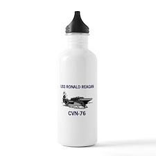 USS REAGAN Sports Water Bottle