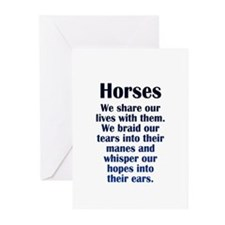 Importance of Horses Greeting Cards (Pk of 20)