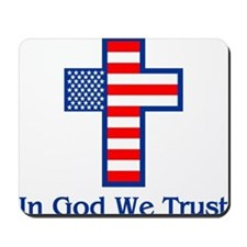 Cute God we trust Mousepad