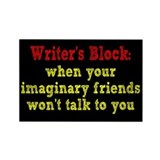 Writer's Block Rectangle Magnet