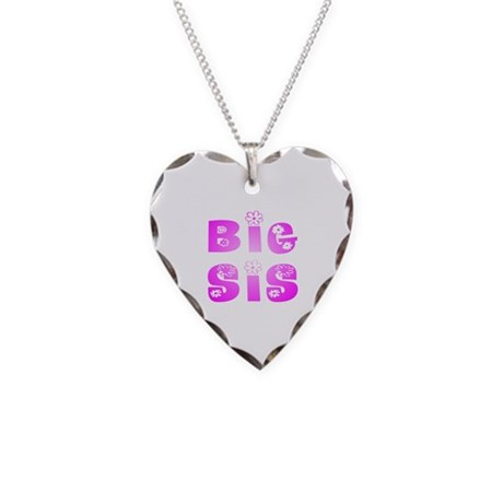 Big Sis Hippy Necklace Heart Charm