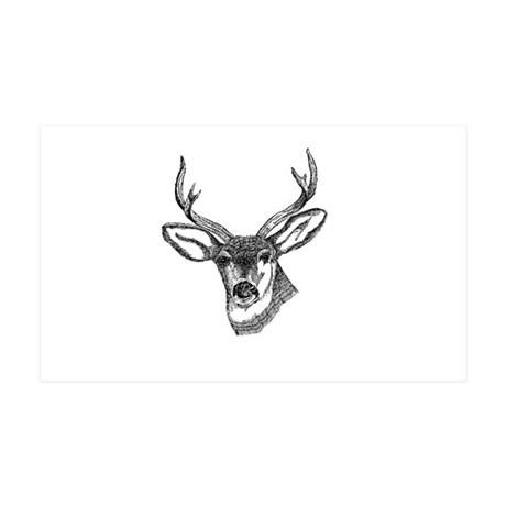 Whitetail Deer 38.5 x 24.5 Wall Peel