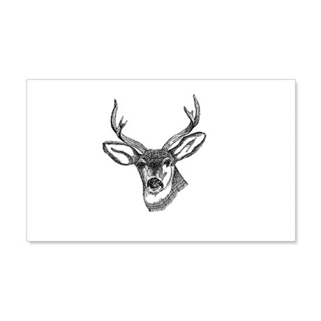 Whitetail Deer 22x14 Wall Peel