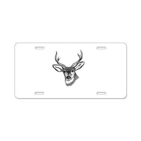Whitetail Deer Aluminum License Plate