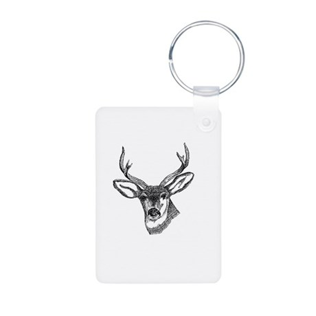 Whitetail Deer Aluminum Photo Keychain