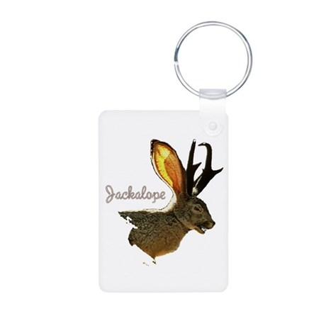 Jackalope Aluminum Photo Keychain