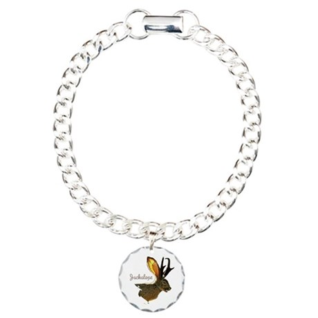 Jackalope Charm Bracelet, One Charm