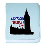 London Baby Friends white baby blanket