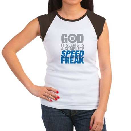 God is a speed freak Women's Cap Sleeve T-Shirt
