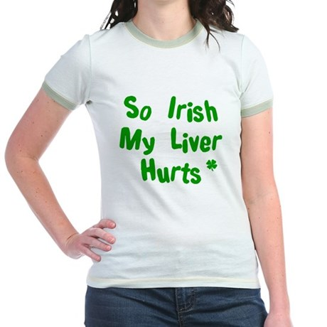 Irish Drinks Shirts Pub Crawl Jr. Ringer T-Shirt
