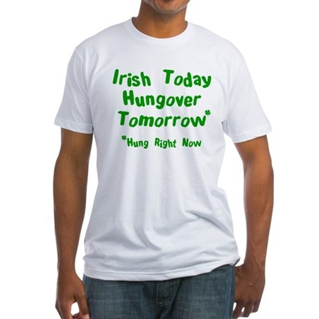 Irish Drinks Shirts Pub Crawl Fitted T-Shirt