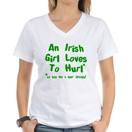 Irish Drinks Shirts Pub Crawl Women's V-Neck T-Shi