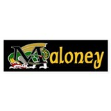 Maloney Celtic Dragon Bumper Bumper Sticker