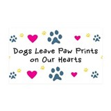Dogs Leave Paw Prints 38.5 x 24.5 Wall Peel