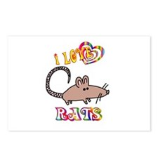 I Love Rats Postcards (Package of 8)