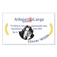 Oscar Wilde Truth and Death Decal