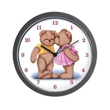 Teddy Love Wall Clock