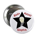 Alaska Against Gingrich campaign button
