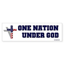 One Nation Under God Bumper Bumper Sticker