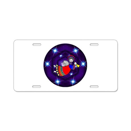 Christmas Angel Aluminum License Plate