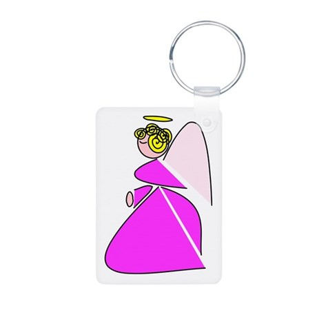 Pretty Angel Aluminum Photo Keychain