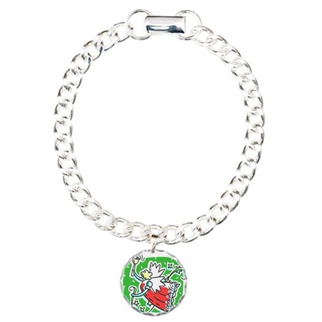 Whymsical Angel Charm Bracelet, One Charm