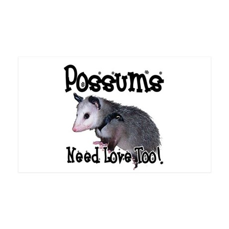 Possums Need Love 38.5 x 24.5 Wall Peel