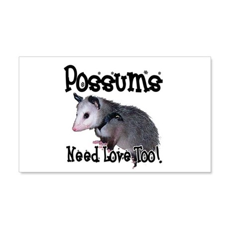 Possums Need Love 22x14 Wall Peel