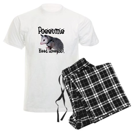 Possums Need Love Men's Light Pajamas