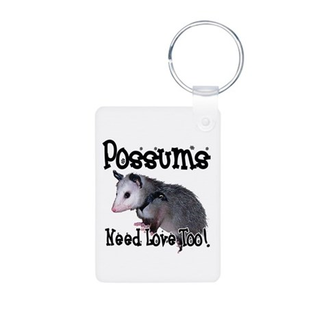 Possums Need Love Aluminum Photo Keychain