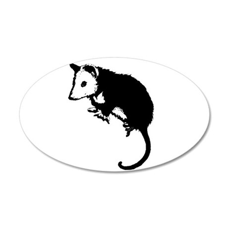 Possum Silhouette 22x14 Oval Wall Peel