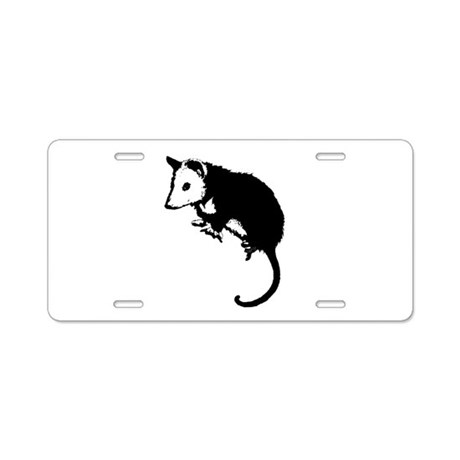 Possum Silhouette Aluminum License Plate