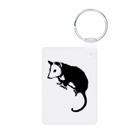 Possum Silhouette Aluminum Photo Keychain