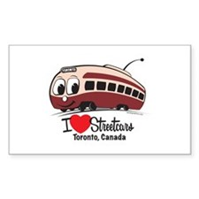 I Love Streetcars Toronto Decal