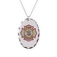Fire Chief Maltese Necklace