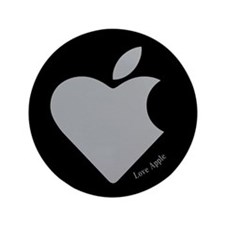"Love Apple 3.5"" Button"
