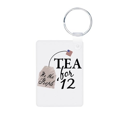 Vote Tea Party 2012 Aluminum Photo Keychain