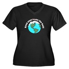 keep your ice on the ball Women's Plus Size V-Neck