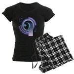 Bass Clef Deco2 Women's Dark Pajamas