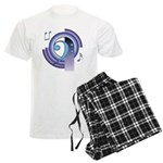 Bass Clef Deco2 Men's Light Pajamas