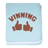 Duh Winning! baby blanket