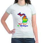 Say Yes To Michigan and The M Jr. Ringer T-Shirt