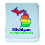 Say Yes To Michigan and The M baby blanket