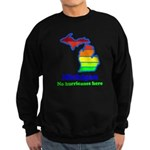Say Yes To Michigan and The M Sweatshirt (dark)