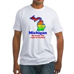 Say Yes To Michigan and The M Fitted T-Shirt