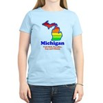 Say Yes To Michigan and The M Women's Light T-Shir