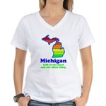Say Yes To Michigan and The M Women's V-Neck T-Shi